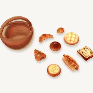 オリジナル3Dモデル「BreadPack」