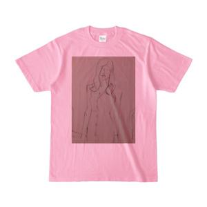 大人のクロッキーTシャツ ピーチカラー