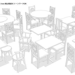 中華風机椅子3Dセット