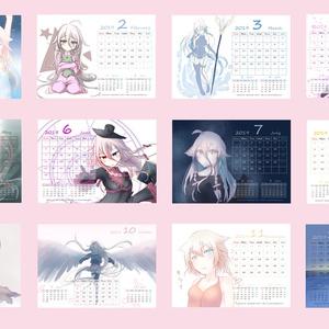 2019年 IA A5カレンダー(2018 IA A5size Calendar)