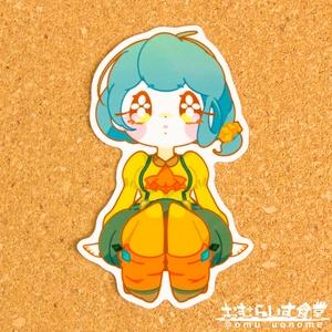 【ステッカー】かぼちゃ(橙)