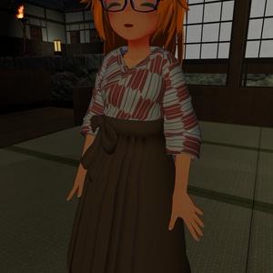 ミーシェ用着せ替え衣装【袴&下駄】