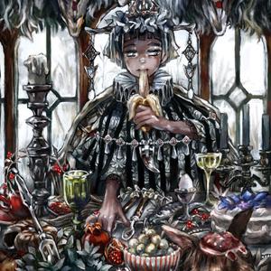飽食-Gluttony- F4キャンバスプリント