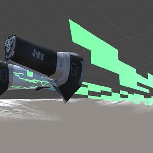 軽量型サイバーカタナ 3Dモデル「菊-001」