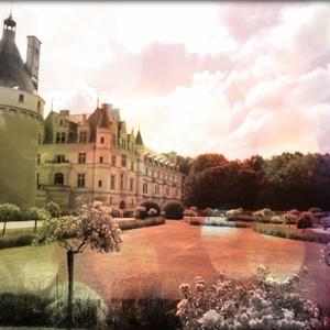 送料込 【写真1枚】 フランスの城 モノトーン調