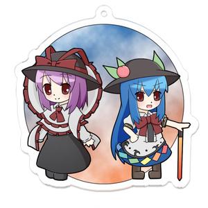 緋想の剣のお嬢ちゃんと緋色の衣のお姉ちゃん アクリルキーホルダー