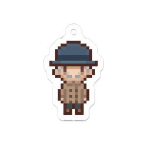 【ピクセルハウス】おじいさんのキーホルダー