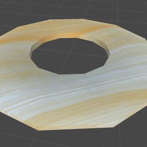 木製の円盤