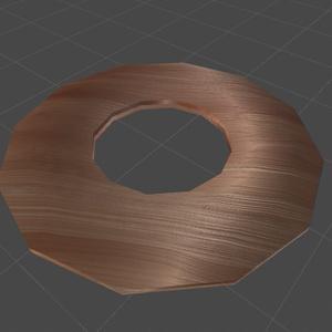 使い込まれた木製の円盤+木製のディスクセイバー改変テクスチャ