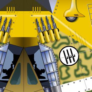 イタリア戦闘機「マッキ、カルボナーラ」紙ヒコーキ
