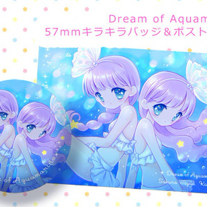 Dream of Aquamarine キラキラバッジ&ポストカード