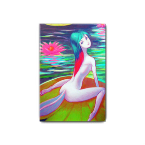 睡蓮の妖精 缶バッジ 角形