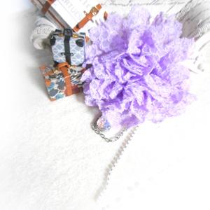 コサージュ・薄紫
