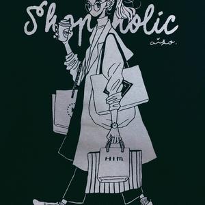 買い物中毒Tシャツ(Mサイズのみ)