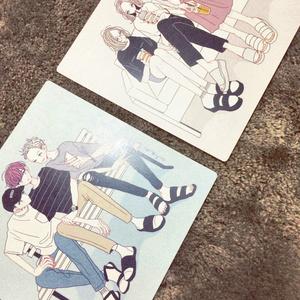 【イラストカード】座る3人組(女子バージョン)