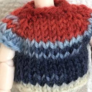 オビツ11 tricolore colorの手編みのセーター