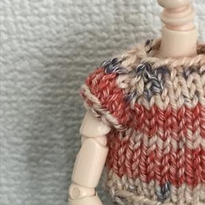 オビツ11 macaron colorの手編みのセーター