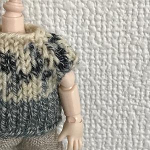 オビツ11 シックな手編みのセーター