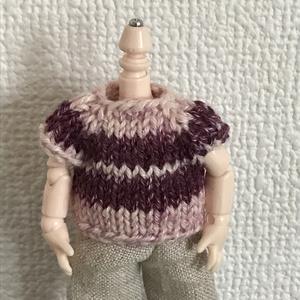 オビツ11 ピンクの手編みのセーター