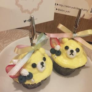 クマさんカップケーキメモ立て