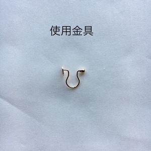ひそひそソニック ピアス/イヤリング Sonic monkey earring/Non-hole earring