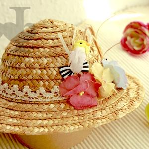 麦わら帽子 L とり / Straw Hat L Bird