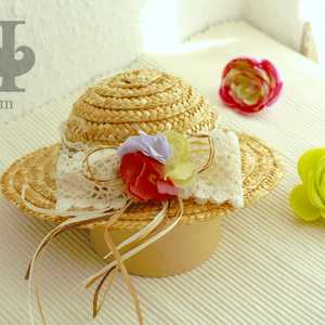 麦わら帽子 L 花 / Straw Hat Lsize Flower
