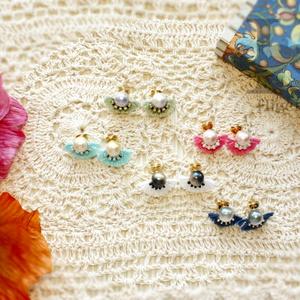 パールフリンジピアス Pearl&Fringe earring