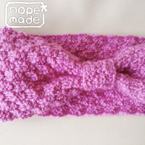 推し色選べる市松模様のニットヘアターバン*キュートなピンク