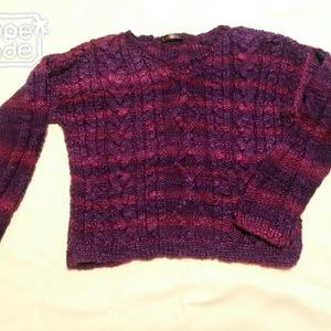文学少女のショートセーター