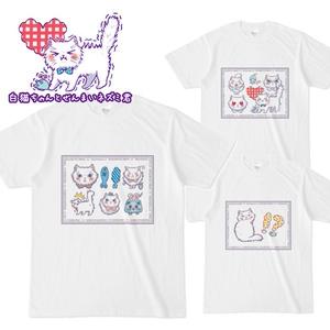 白猫ちゃんとぜんまいネズミ君Tシャツ