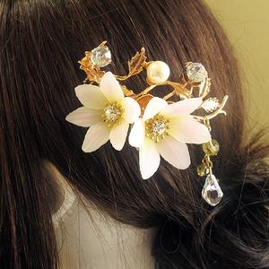ユリの髪飾り