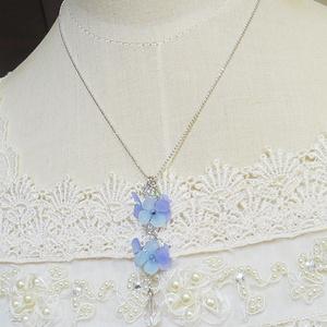 枝垂れ紫陽花のネックレス