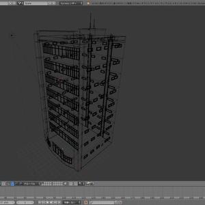 【3Dモデル】建造物外観素材その1【Blender】