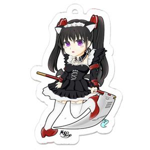 【誘凪 冥 イザナギ メイ】死神の鎌を持ったメイド服ツインテールの女の子