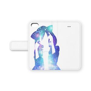 猫耳フードの女の子 iPhoneケース