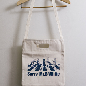 ごめんね、Mr.Bホワイト トートバッグ