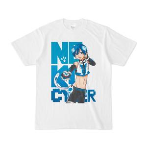 ネコサイバー白Tシャツ