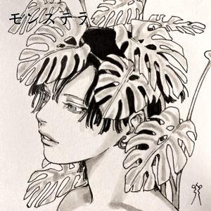完売【博物シリーズ】ミニ色紙【原画】