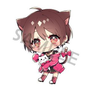 利香猫アクリルキーホルダー(新サイズver)