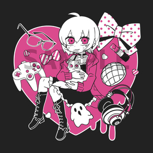 利香♥オリジナルパーカー(黒)