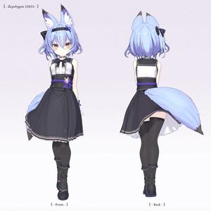 【オリジナル3Dモデル】幽狐族のお姉様