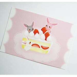 ポストカード02【苺ケーキ】