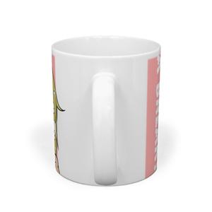 ほっこりフーちゃんマグカップ コーラルピンク