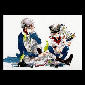 【A4イラスト】航海士の日記