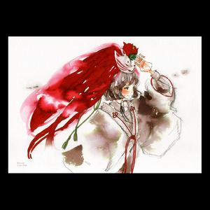 【A4イラスト】風と赤