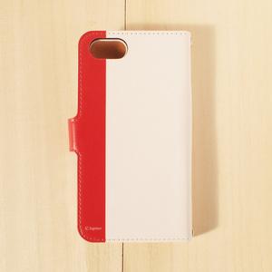 【iPhone・手帳型ケース】風と赤