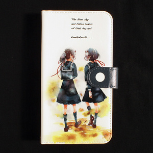 【iPhone/手帳型ケース】並木道