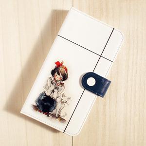 【iPhone/手帳型ケース】白猫