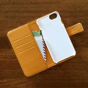 【iPhone 手帳型ケース】 風と赤